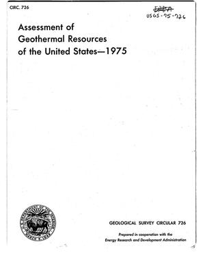 Primary view of object titled 'Assessment of Geothermal Resources of the United States--1975'.