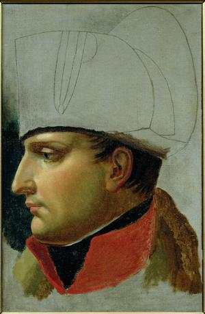 Unfinished Portrait of Napoleon I (1769-1821), formerly attributed to Jacques Louis David