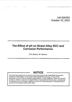 Primary view of object titled 'The Effect of pH on Nickel Alloy SCC and Corrosion Performance'.