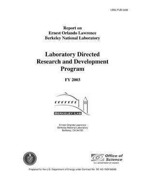 Primary view of object titled 'Laboratory directed research and development program FY 2003'.