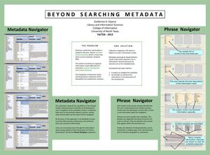 Primary view of object titled 'Beyond Searching Metadata'.