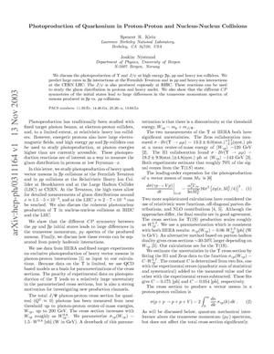 Primary view of object titled 'Photoproduction of quarkonium in proton-proton and nucleus-nucleus collisions'.