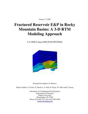 Primary view of object titled 'FRACTURED RESERVOIR E&P IN ROCKY MOUNTAIN BASINS: A 3-D RTM MODELING APPROACH'.