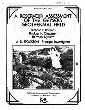 Primary view of object titled 'A Reservoir Assessment of the Geysers Geothermal Field'.