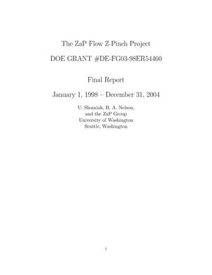 Primary view of object titled 'The ZaP Flow Z-Pinch Project'.