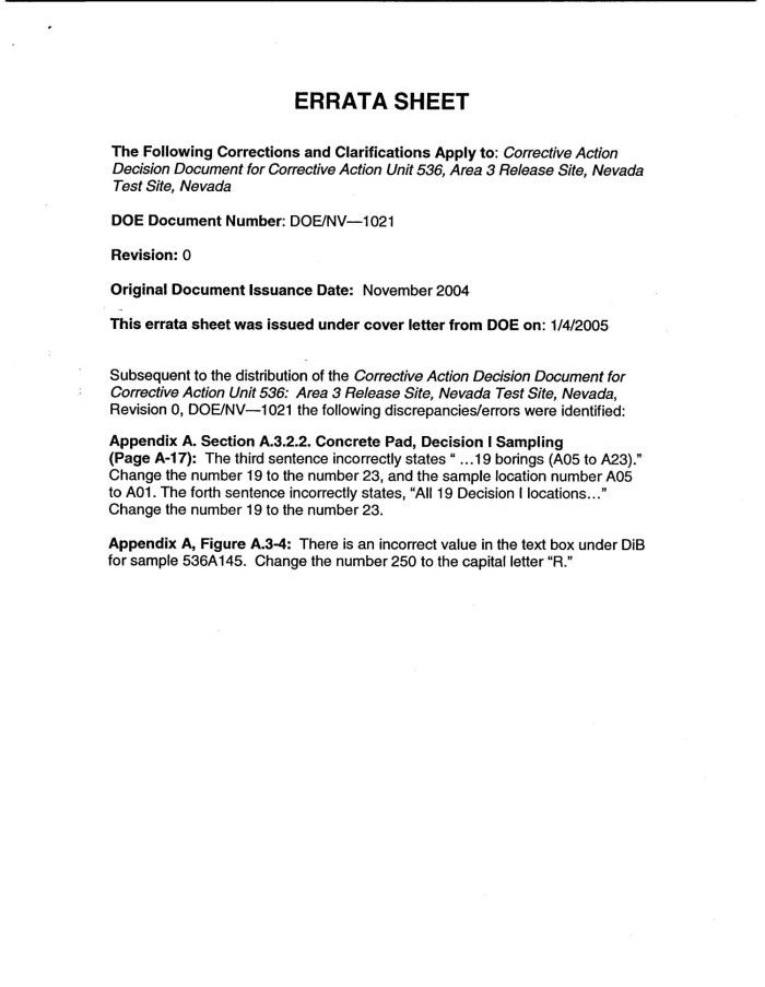 Corrective Action Decision Document for Corrective Action ...