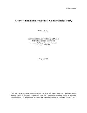 Primary view of object titled 'Review of health and productivity gains from better IEQ'.
