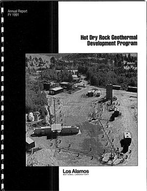 Primary view of object titled 'Hot Dry Rock Heat Mining Geothermal Energy Development Program, Annual Report FY 1991'.