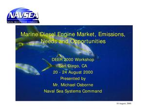 Primary view of object titled 'Marine Diesel Engine Market, Emissions, Needs and Opportunities'.