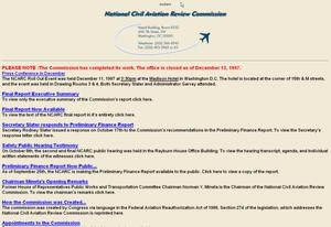 Primary view of object titled 'National Civil Aviation Review Commission'.