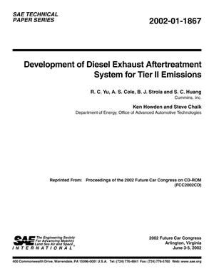 Primary view of object titled 'Development of Diesel Exhaust Aftertreatment System for Tier II Emissions'.