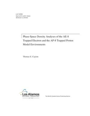 Primary view of object titled 'Phase-Space Density Analyses of the AE-8 Trapped Electron and the AP-8 Trapped Proton Model Environments'.