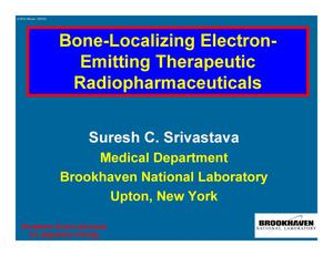 Primary view of object titled 'Bone-Localizing Electron-Emitting Therapeutic Radiopharmaceuticals'.