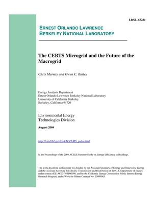 Primary view of object titled 'The CERTS microgrid and the future of the macrogrid'.