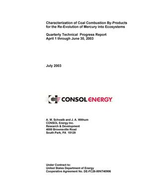 Primary view of object titled 'CHARACTERIZATION OF COAL COMBUSTION BY-PRODUCTS FOR THE RE-EVOLUTION OF MERCURY INTO ECOSYSTEMS'.
