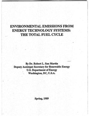 Primary view of object titled 'Environmental Emissions from Energy Technology Systems: The Total Fuel Cycle'.