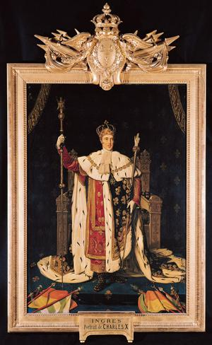 Primary view of object titled 'Portrait of Charles X in Coronation Robes'.