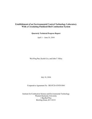 Primary view of object titled 'ESTABLISHMENT OF AN ENVIRONMENTAL CONTROL TECHNOLOGY LABORATORY WITH A CIRCULATING FLUIDIZED-BED COMBUSTION SYSTEM'.