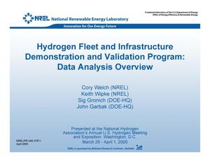 Primary view of object titled 'Hydrogen Fleet and Infrastructure Demonstration and Validation Program: Data Analysis Overview'.