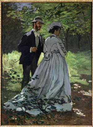 Primary view of object titled 'The Promenaders, or Bazille and Camille'.