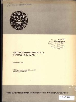 Primary view of object titled 'Nuclear Superheat Meeting: September 1959'.