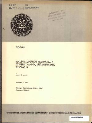 Primary view of object titled 'Nuclear Superheat Meeting: October 1960'.