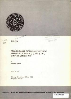 Primary view of object titled 'Nuclear Superheat Meeting: March 1962'.