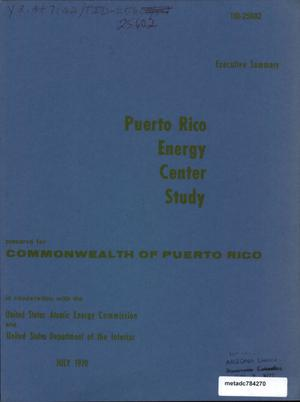 Primary view of object titled 'Puerto Rico Energy Center Study: Executive Summary'.