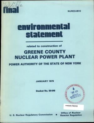 Final Environmental Statement by the U.S. Nuclear Regulatory Commission for Greene County Nuclear Power Plant