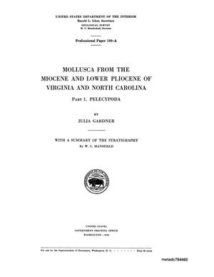 Primary view of object titled 'Mollusca From the Miocene and Lower Pliocene of Virginia and North Carolina: Part 1. Pelecypoda'.
