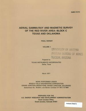 Primary view of object titled 'Aerial Gamma-Ray and Magnetic Survey of the Red River Area--Block C, Texas and Oklahoma: Final Report, Volume 1'.