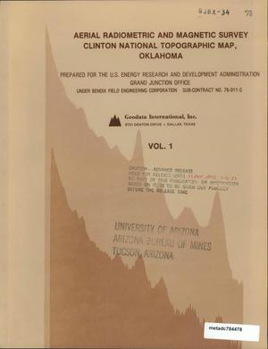 Primary view of object titled 'Aerial Radiometric and Magnetic Survey of the Clinton National Topographic Map, NI 14-2 Oklahoma: Volume 1'.