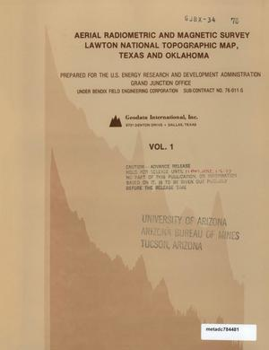 Primary view of object titled 'Aerial Radiometric and Magnetic Survey of the Lawton National Topographic Map, NI 14-5, Texas and Oklahoma: Volume 1'.