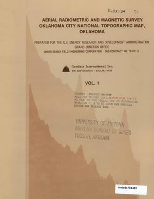 Primary view of object titled 'Aerial Radiometric and Magnetic Survey of the Oklahoma City National Topographic Map, NI 14-3, Oklahoma: Volume 1'.