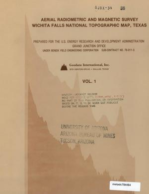 Primary view of object titled 'Aerial Radiometric and Magnetic Survey of the Wichita Falls National Topographic Map, NI 14-8, Texas and Oklahoma: Volume 1'.