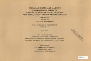 Primary view of object titled 'Aerial Radiometric and Magnetic Reconnaissance Survey of Portions of Arizona, Idaho, Montana, New Mexico, South Dakota and Washington: Final Report, Volume 2-A. Cut Bank Quadrangle'.