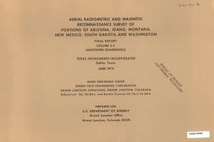 Primary view of object titled 'Aerial Radiometric and Magnetic Reconnaissance Survey of Portions of Arizona, Idaho, Montana, New Mexico, South Dakota and Washington: Final Report, Volume 2-F. Lewistown Quadrangle'.