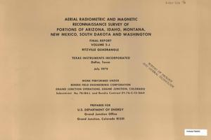 Primary view of object titled 'Aerial Radiometric and Magnetic Reconnaissance Survey of Portions of Arizona, Idaho, Montana, New Mexico, South Dakota and Washington: Final Report, Volume 2-J. Ritzville Quadrangle'.