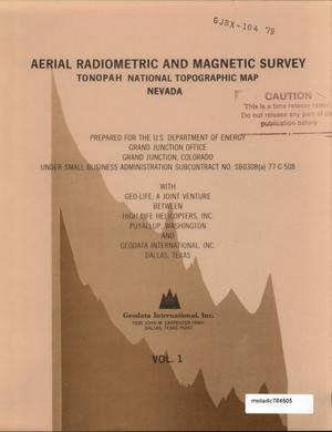 Primary view of object titled 'Aerial Radiometric and Magnetic Survey, Tonopah National Topographic Map, Nevada: Volume 1'.