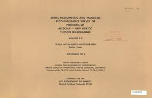Primary view of object titled 'Aerial Radiometric and Magnetic Reconnaissance Survey of Portions of Arizona--New Mexico: Volume 2-C, Tucson Quadrangle'.
