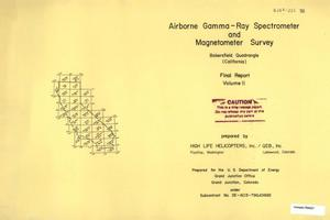 Primary view of object titled 'Airborne Gamma-Ray Spectrometer and Magnetometer Survey: Final Report, Volume 2, Bakersfield Quadrangle (California)'.