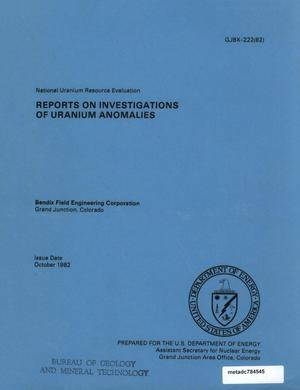 Primary view of object titled 'Reports on Investigations of Uranium Anomalies'.