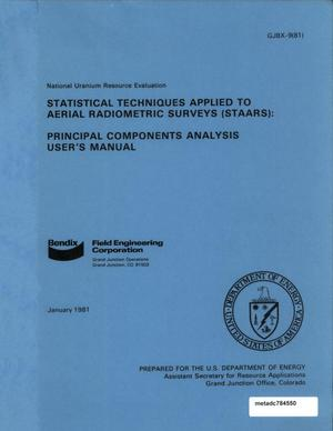 Primary view of object titled 'Statistical Techniques Applied to Aerial Radiometric Surveys (STAARS): Principal Components Analysis User's Manual'.
