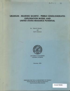 Primary view of object titled 'Precambrian uranium-bearing quartz-pebble conglomerates: exploration model and United States resource potential'.