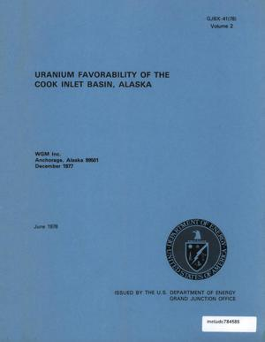 Primary view of object titled 'Uranium Favorability of the Cook Inlet Basin, Alaska: Volume 2'.