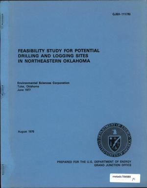 Primary view of object titled 'Feasibility Study for Potential Drilling and Logging Sites in Northeastern Oklahoma'.