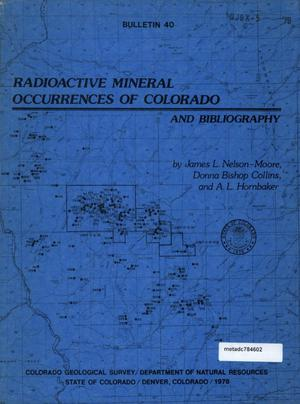 Primary view of object titled 'Radioactive Mineral Occurrences of Colorado and Bibliography'.