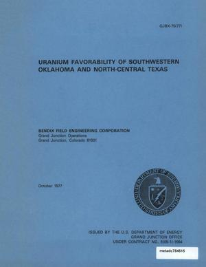 Primary view of object titled 'Uranium Favorability of Southwestern Oklahoma and North-Central Texas'.
