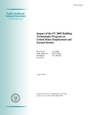 Primary view of object titled 'Impact of the FY 2005 Building Technologies Program on United States Employment and Earned Income'.