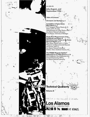 Primary view of object titled 'AGEX II: Technical quarterly, Volume 2'.